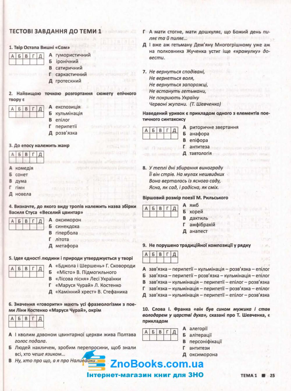 ЗНО 2022 Українська література. Комплексне видання :  Радченко І.  Літера. купити 8