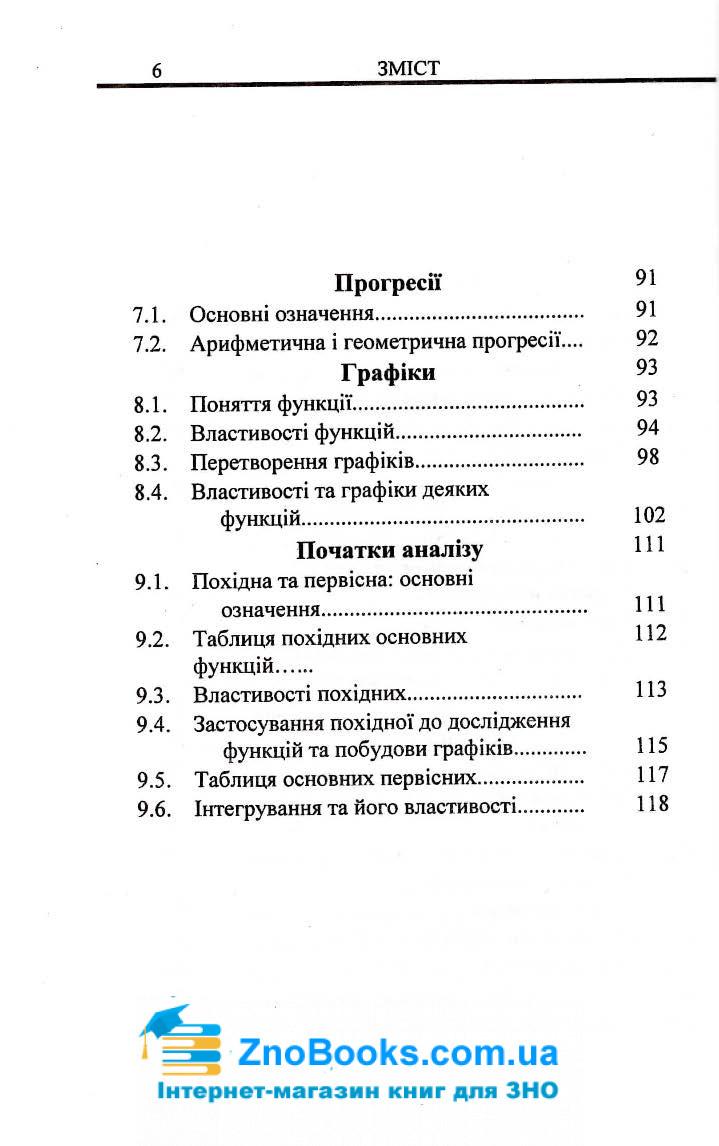 Алгебра і початки аналізу в таблицях і схемах : Бровченко О. Логос. купити  7