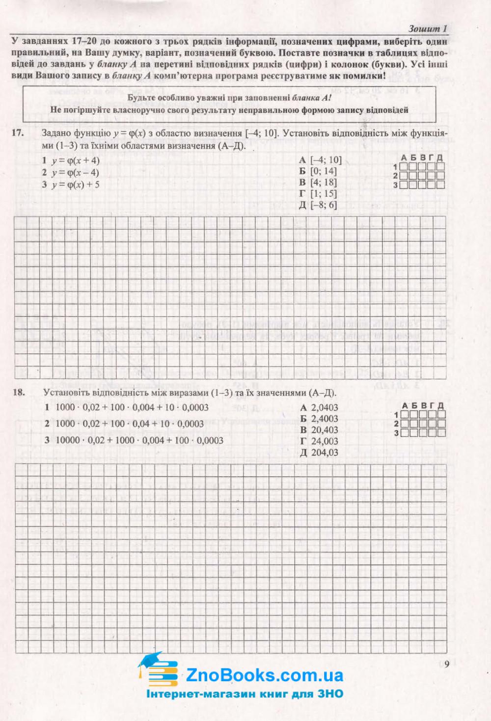 Математика ЗНО 2021 рівень стандарту та профільний. Комплексне видання + Тренажер /КОМПЛЕКТ/ : Капіносов А. Підручники і посібники. 13