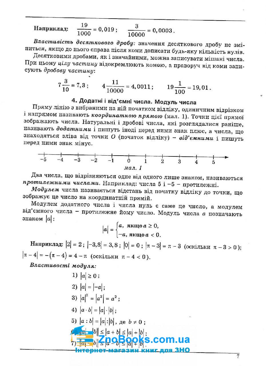 Математика : Довідник + тести та 20 варіантів тестів у форматі ЗНО 2022 : Істер О. Абетка. купити 4