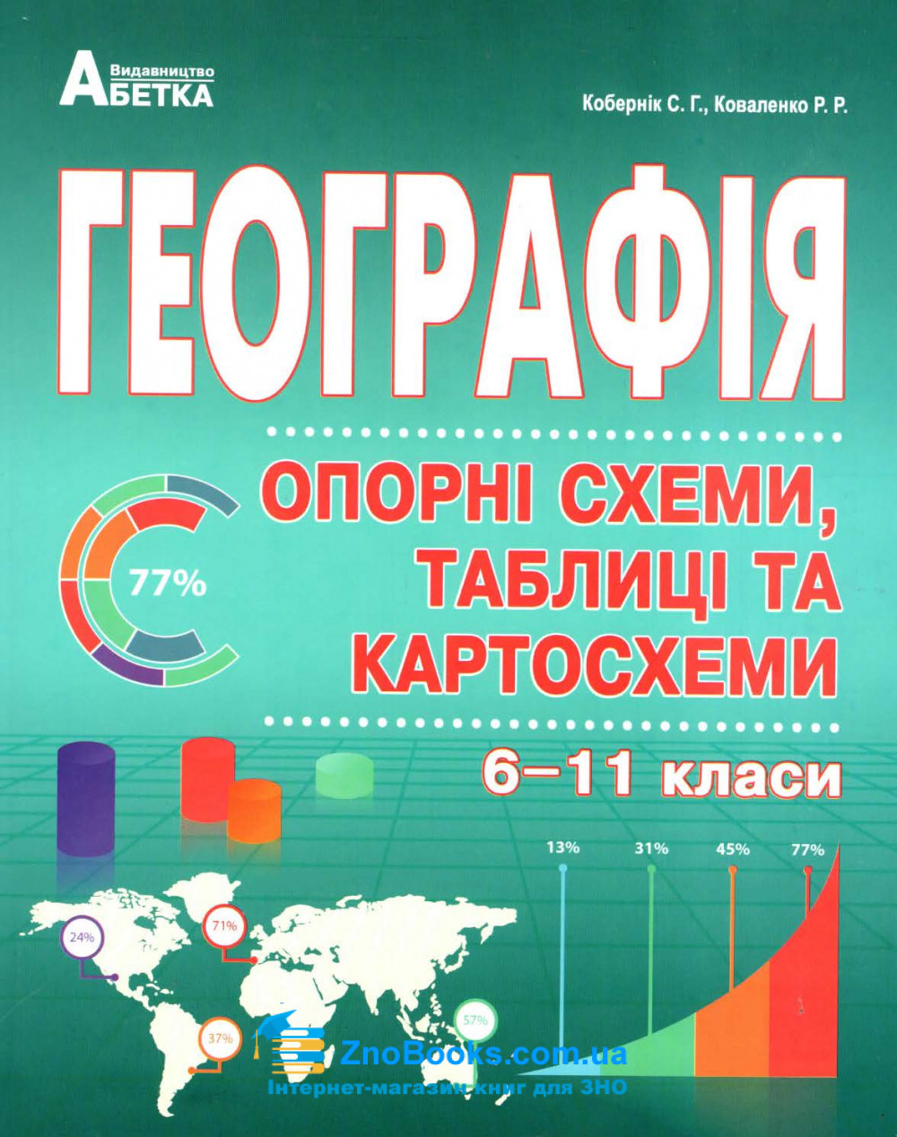 Опорні схеми, таблиці та картосхеми з географії до ЗНО : Кобернік С., Коваленко Р. купити 0