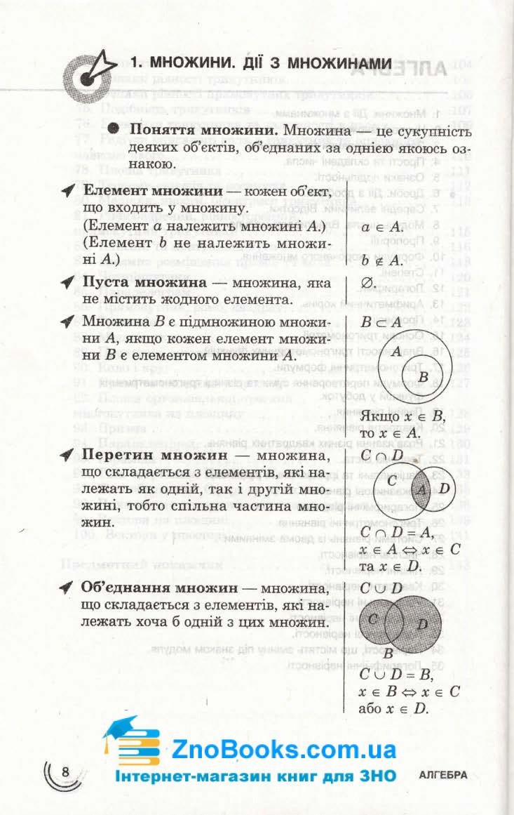 Математика 100 тем. Довідник. Експрес-допомога до ЗНО : Виноградова Т. Асса. купити 8